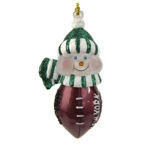 scottish christmas new york jets all star light up snowman ornament