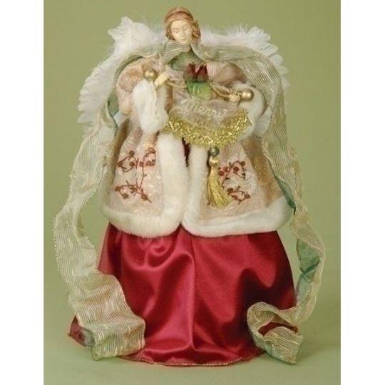 Christmas Angel Tree Topper.Roman Merry Christmas Angel Treetopper