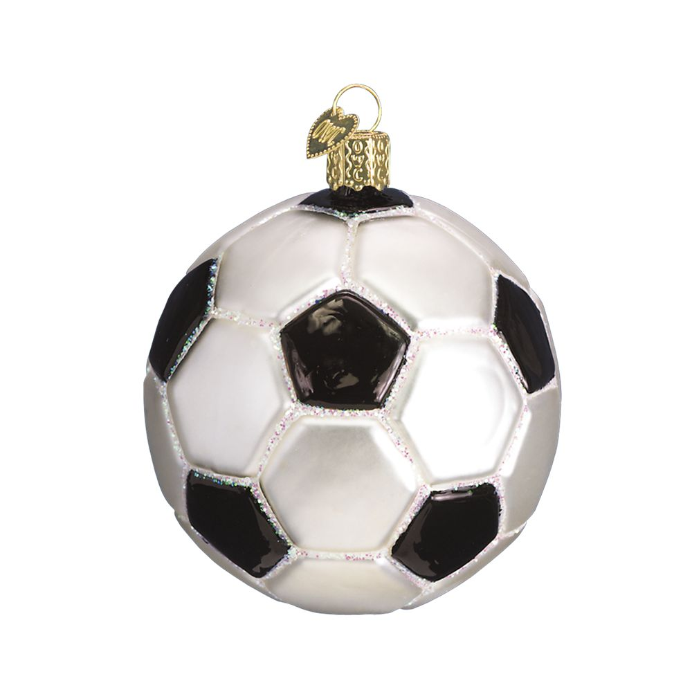 Old World Christmas Soccer Ball Glass Ornament: Fitzula's ...