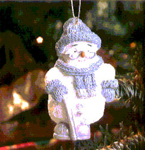 "SNOW BUDDIES 94482 Grampa Frostbite Ornament 3"" Christmas Tree Holiday Decor NEW"
