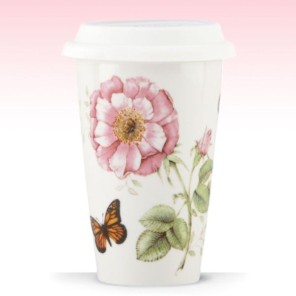 Lenox Butterfly Meadow Collection Thermal Travel Mug