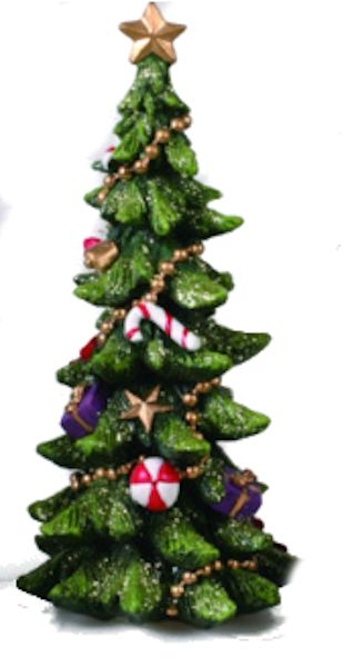 transpac christmas tree with candy cane decorations figurine