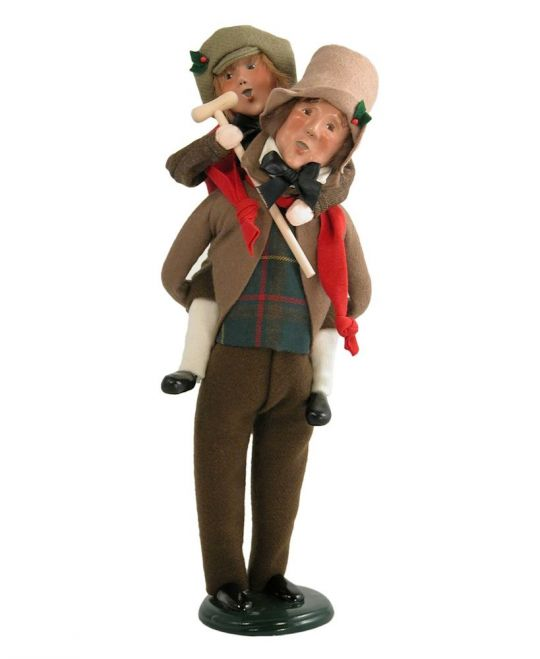 Tiny Tim Christmas Carol.Byers Choice Dickens A Christmas Carol Bob Cratchit And Tiny Tim