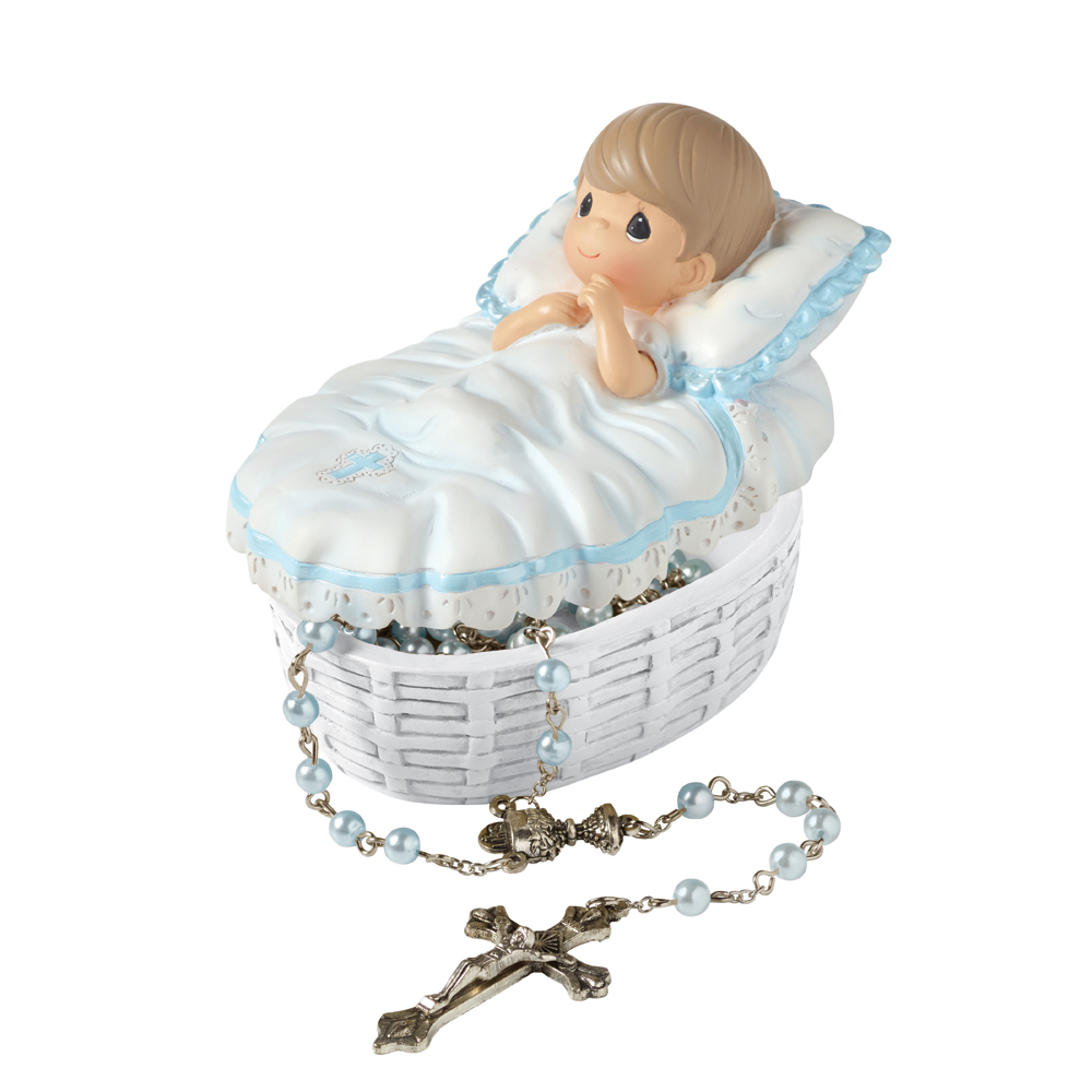 Precious Moments Baptized In His Name Baby Boy Box With