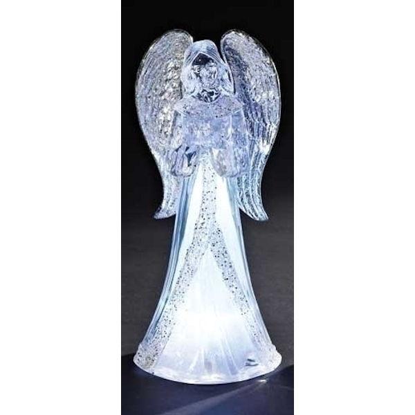 Roman Led Acrylic Angel Holding A Bird Fitzula S Gift Shop