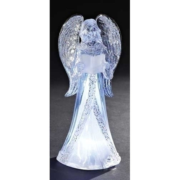 Roman Led Acrylic Angel Reading A Book Fitzula S Gift Shop