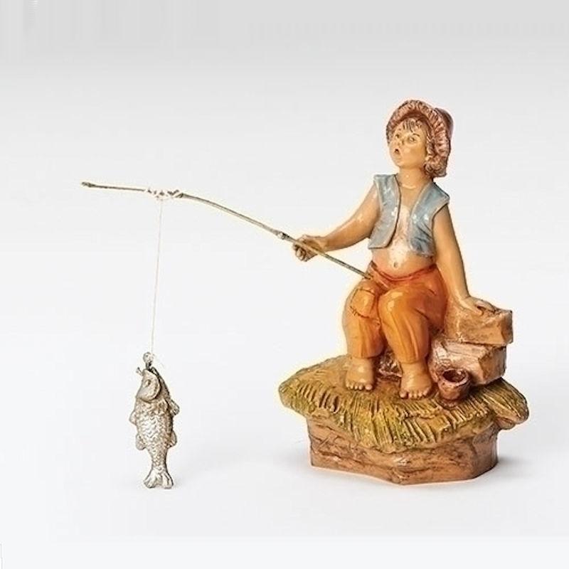 Jada little boy fishing fitzula 39 s gift shop for Little boy fishing statue