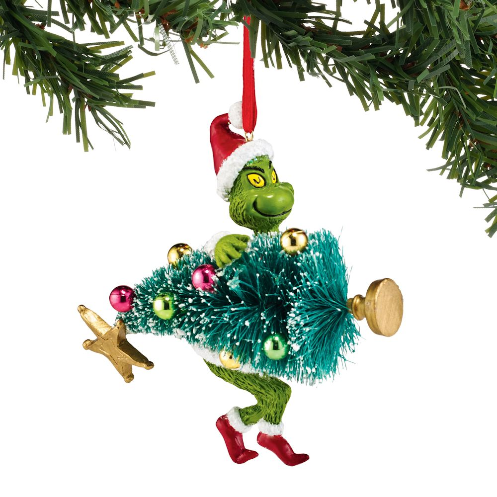 Christmas Decorations The Grinch: Department 56 Dr Seuss Grinch Stealing Tree Ornament