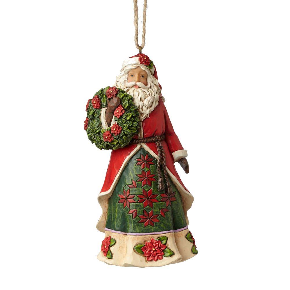 Heartwood Creek Poinsettia Santa Ornament Fitzula S Gift Shop