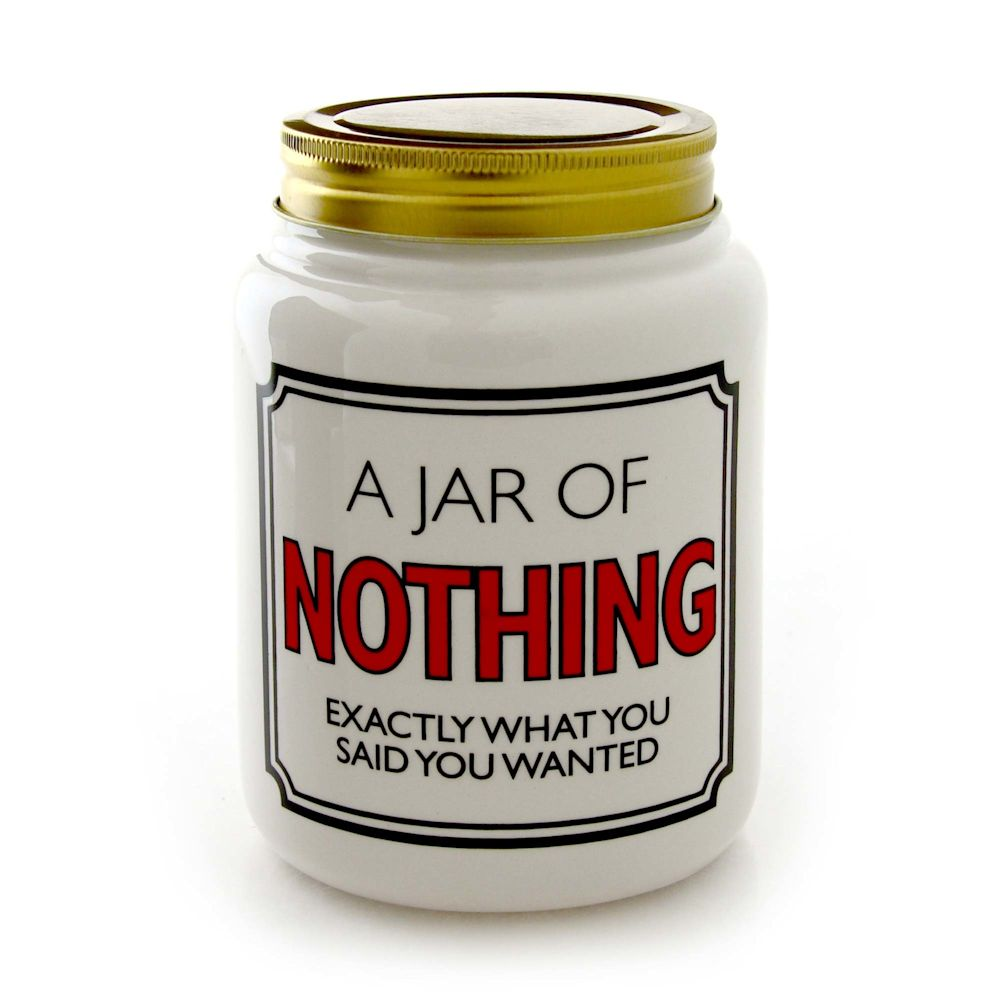 Our Name Is Mud Jar Of Nothing Fitzula S Gift Shop