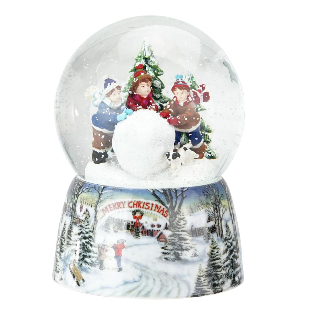Roman Kids Rolling Snowball Musical Water Globe Fitzula S