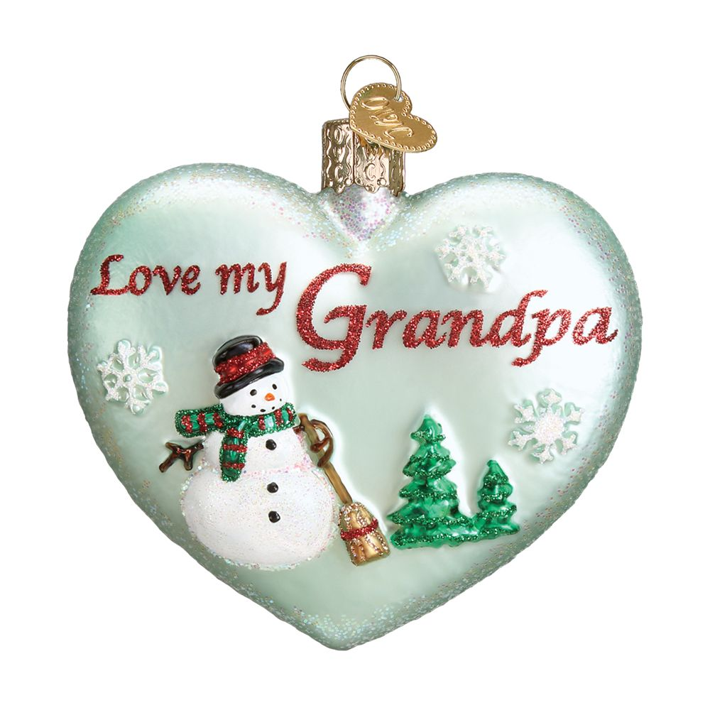 Baptism Heart Ornament: Old World Christmas Grandpa Heart Ornament: Fitzula's Gift
