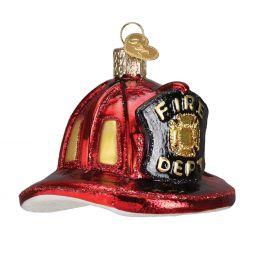 old world christmas firemans helmet ornament - Merck Family Old World Christmas