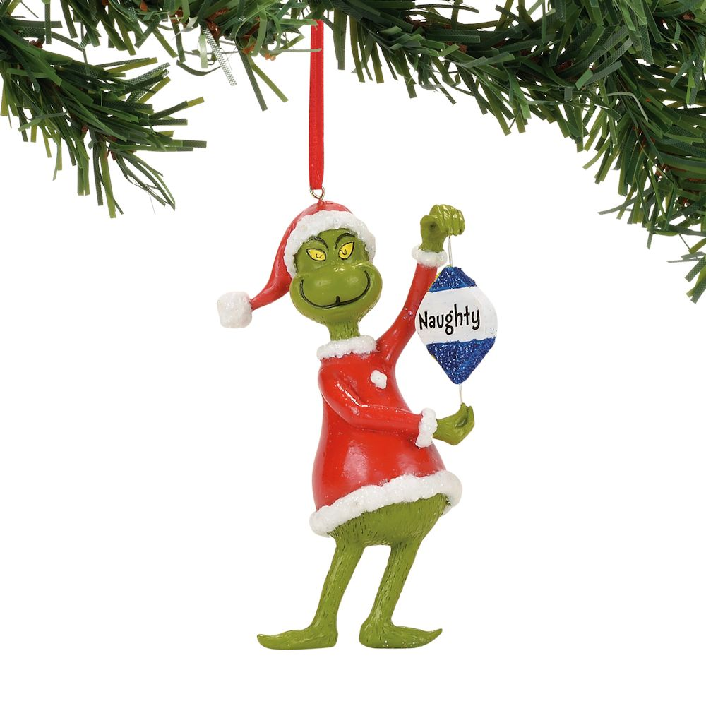 Department 56 Dr Seuss Grinch Naughty Or Nice Ornament