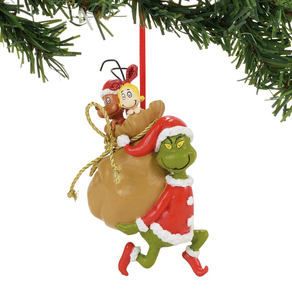 Christmas Decorations The Grinch: Department 56 Dr. Seuss Grinch Santy Clause Stowaways