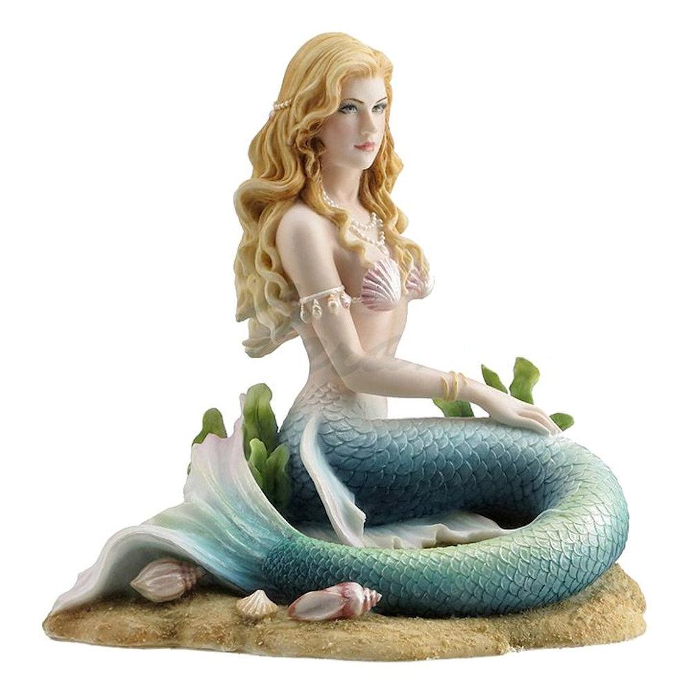 Enchanted Song Mermaid Sitting On The Ocean Floor Fitzula