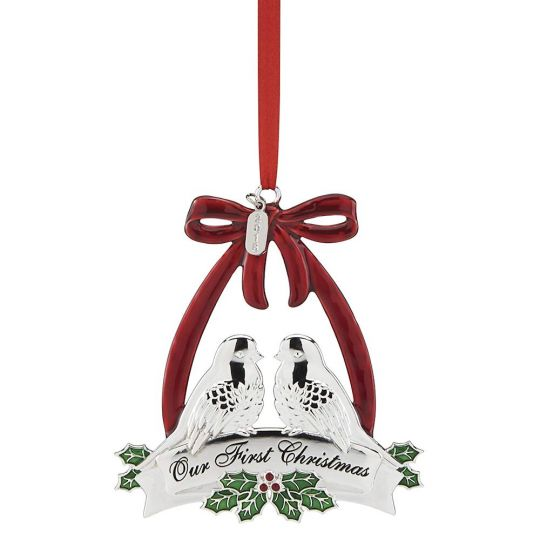 First Christmas.Lenox 2018 Our First Christmas Doves Ornament