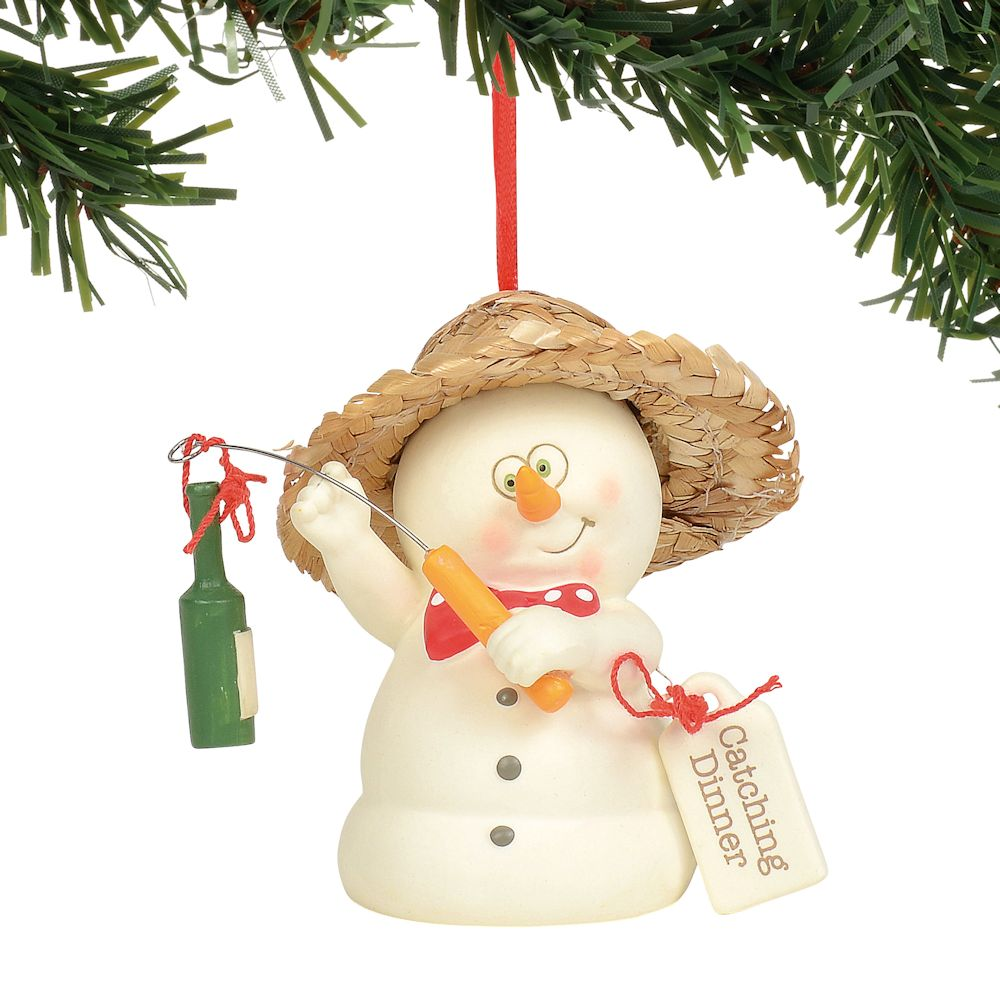 Snowpinions Catching Dinner Ornament Fitzula S Gift Shop