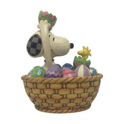 Jim Shore 15TH ANNUAL WHITE WOODLAND EASTER BASKET-FOLLOW YOUR PATH 6003998 2020