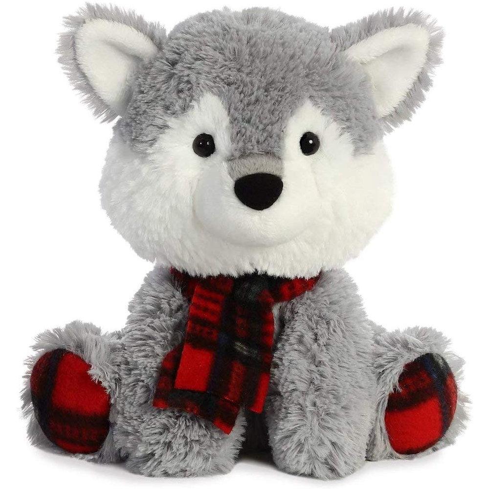 "Plaid Raccoon Aurora Christmas Items 8/"" Pudder D"