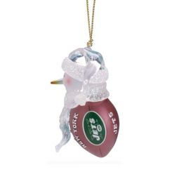 scottish christmas new york jets acrylic touchdown snowman